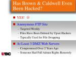 has brown caldwell even been hacked