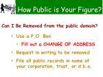 how public is your figure101