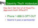 identity theft addendum98