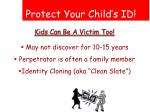 protect your child s id