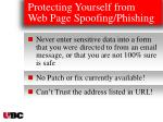 protecting yourself from web page spoofing phishing