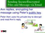 sending secure encrypted files and message via email132