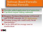 software based firewalls personal firewalls