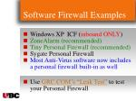 software firewall examples