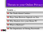 threats to your online privacy