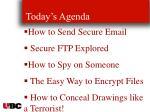 today s agenda104