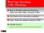 web page spoofing url phishing