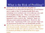 what is the risk of profiling58