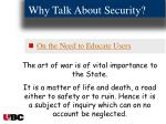 why talk about security