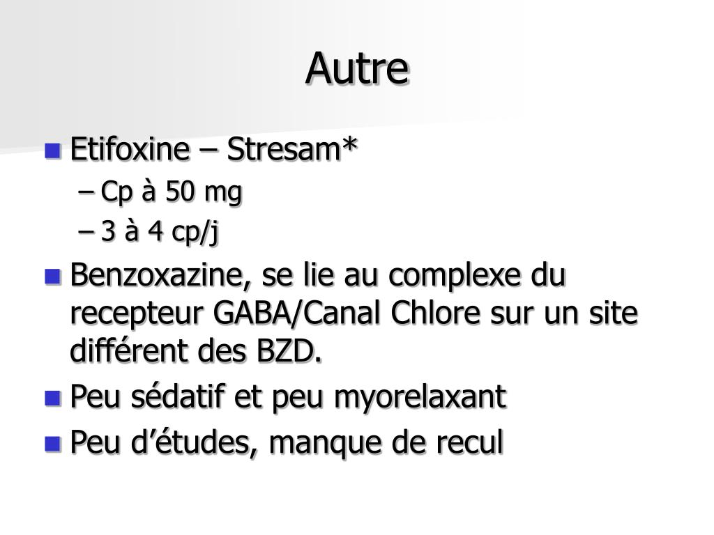 PPT - ANXIOLYTIQUES HYPNOTIQUES PowerPoint Presentation ...