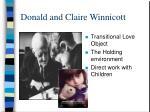 donald and claire winnicott