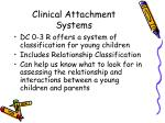 clinical attachment systems