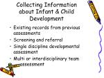 collecting information about infant child development