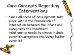 core concepts regarding interventions