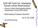 dc0 3r tools for assessing parent infant relationship