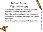 infant parent psychotherapy
