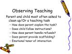 observing teaching