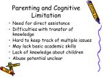 parenting and cognitive limitation