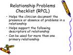 relationship problems checklist rpcl