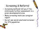 screening referral