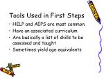 tools used in first steps38