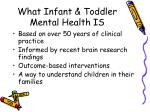 what infant toddler mental health is