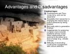 advantages and di sadvantages27