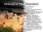 attributes of thick description