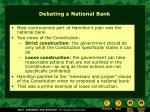 debating a national bank
