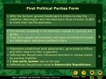 first political parties form9