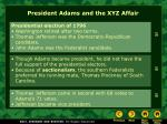 president adams and the xyz affair
