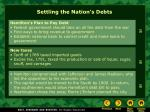 settling the nation s debts
