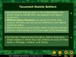 tecumseh resists settlers