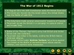 the war of 1812 begins34