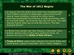 the war of 1812 begins35