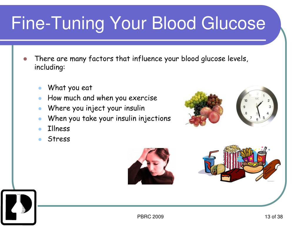 Fine-Tuning Your Blood Glucose