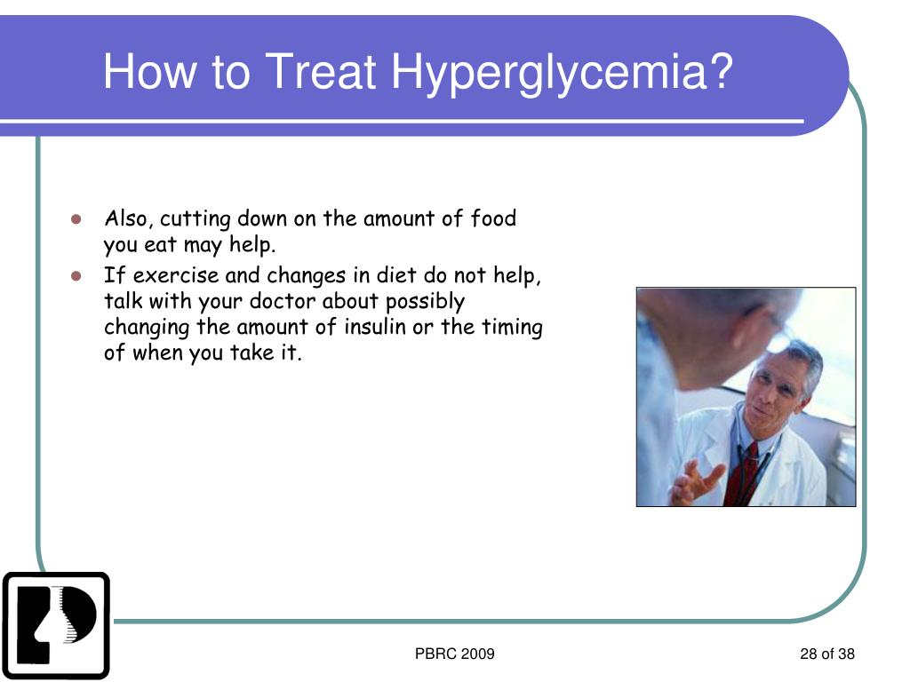 How to Treat Hyperglycemia?