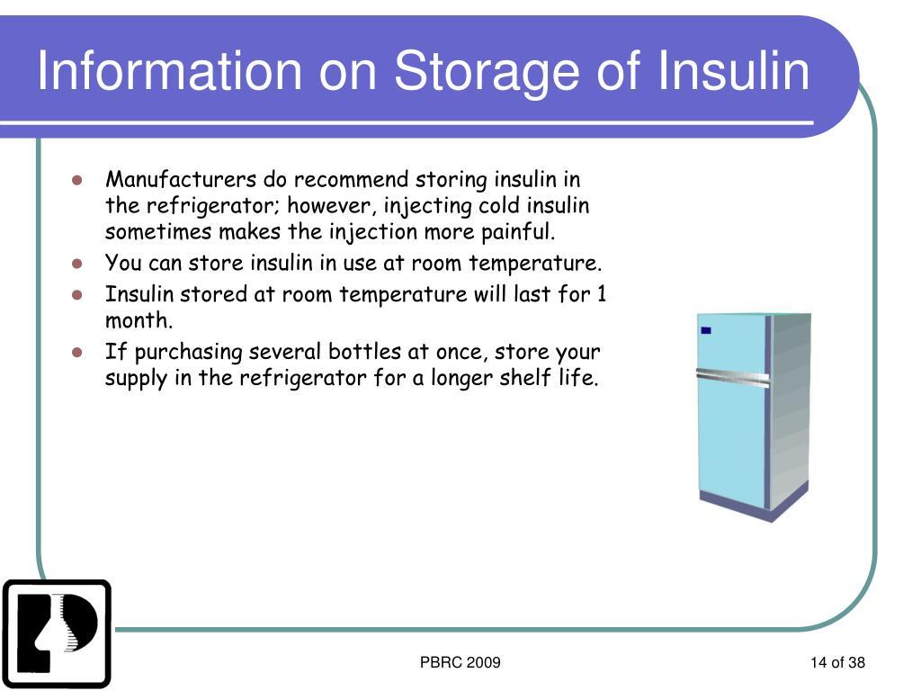 Information on Storage of Insulin
