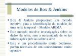 modelos de box jenkins