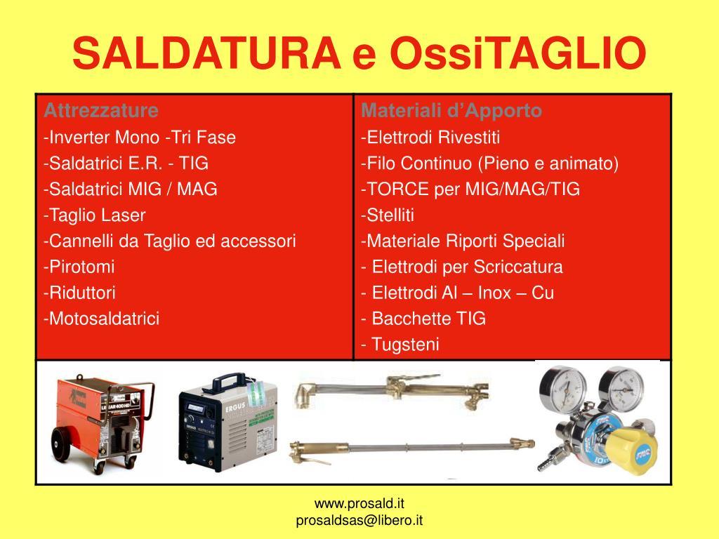 SALDATURA e OssiTAGLIO