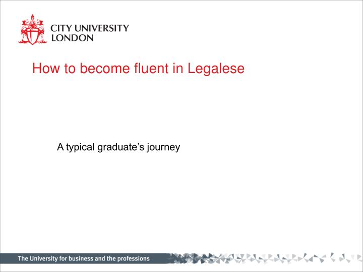 how to become fluent in legalese n.
