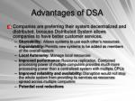 advantages of dsa