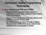 distributed object programming techniques