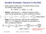 another example calcium in the diet
