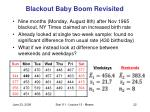 blackout baby boom revisited