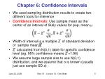 chapter 6 confidence intervals
