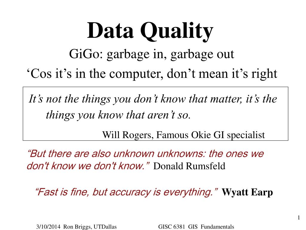 data quality l.