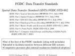 fgdc data transfer standards