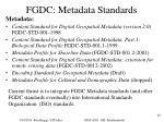 fgdc metadata standards