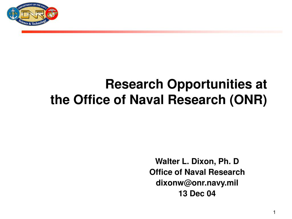 research opportunities at the office of naval research onr l.